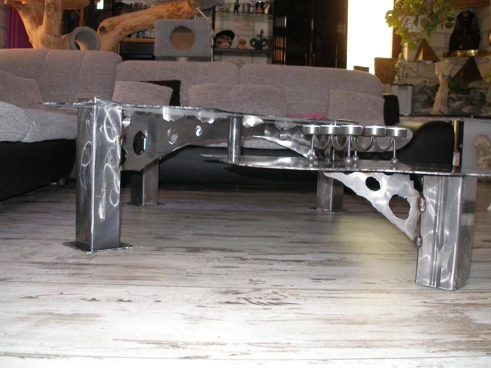 Metalldesign for Wohnzimmertisch ideen